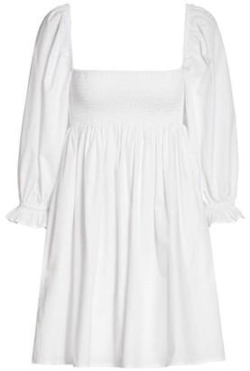 Faithfull The Brand Le Desert Arles Smocked Cotton Mini Dress