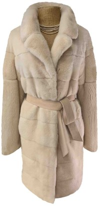 BEIGE Non Signe / Unsigned Mink Coat for Women