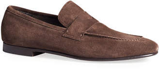 Dunhill Men's Engine Turn Soft Suede Loafers