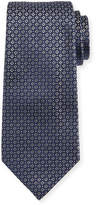 Giorgio Armani Mini-Cross Medallion Silk Tie, Gray