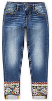 Miss Me Girls Big Girls 7-16 Embroidered Detail Skinny Ankle Jeans