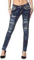 Rock Revival Jeans Women's Johanna S205 Skinny Cut Distressed Slit Acid
