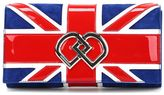 DSQUARED2 Uk Flag Suede Clutch
