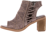 Not Rated Taupe Block Heel Bootie