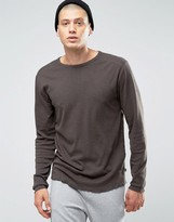 ONLY & SONS Long Sleeve Top with Raw Edge Hem