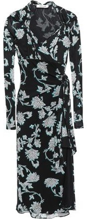 Diane von Furstenberg Marin Knotted Printed Crepe-jersey Wrap Dress