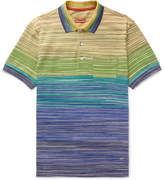 Missoni Space-Dyed Cotton-Jersey Polo Shirt