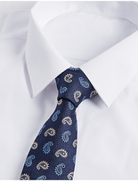 M&S Collection Pure Silk Paisley Print Tie