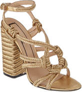 N°21 N 21 N21 Braided Metallic Canvas Sandal