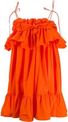 MSGM ruffle-trimmed flared dress