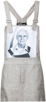 Raf Simons Robert Mapplethorpe photo print dungaree top - men - Linen/Flax - 44