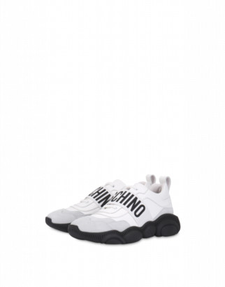 Moschino Elastic Band Sneakers With Elastic Band Man White Size 39 It - (6 Us)