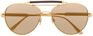Tom Ford Aviator-Frame Tinted Sunglasses