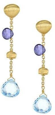 Marco Bicego Paradise Blue 18K Yellow Gold, Blue Topaz & Iolite Drop Earrings