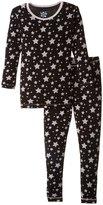 Kickee Pants Print Pajama Set (Toddler/Kid) - Midnight Stars - 6Y