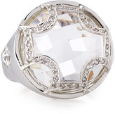 Elizabeth Showers White Quartz Checkerboard Ring