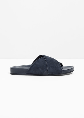 And other stories Wide Strap Suede Slides
