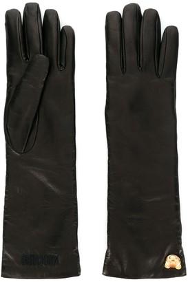 Moschino Teddy Charm Gloves