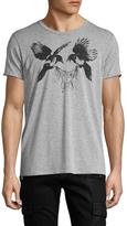Alexander McQueen Bird Print Crewneck T-Shirt