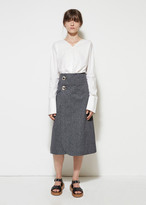 Marni Jeweled Button Skirt
