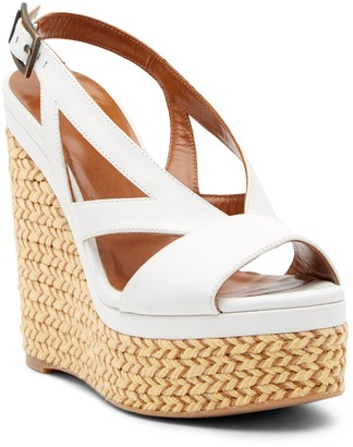 Aquatalia Carley Leather Wedge Sandal