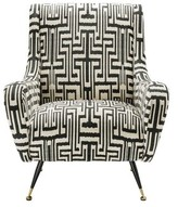 Eichholtz Giardino Wingback Chair Upholstery Color: Gray