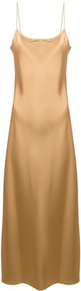 Theory Metallic-Print Slip Dress