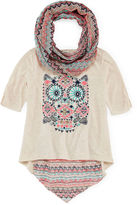 Knitworks Knit Works 3/4-Sleeve Top and Scarf Set - Girls 7-16