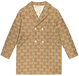 Gucci Kids Checked wool coat
