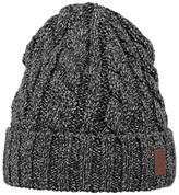 Barts Twister Turnup Beanie, One Size, Black