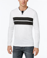INC International Concepts Men's Gilman Stripe Layered-Look Long-Sleeve T-Shirt, Only at Macy's