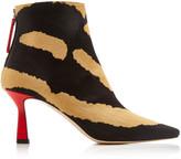Wandler Lina Zebra Print Calf-Hair Boot