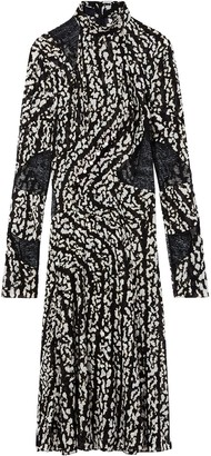 Proenza Schouler Marble Print Stretch Chiffon Dress