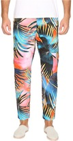 Just Cavalli Tie-Dye Palm Print Pants Men's Casual Pants