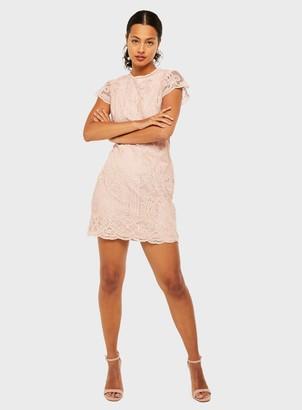 Miss Selfridge Nude Lace Mini Dress