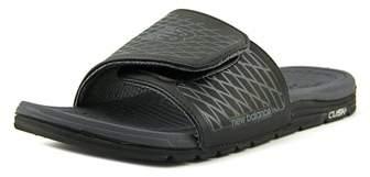 New Balance Cush & Slide Men Open Toe Synthetic Black Slides Sandal.