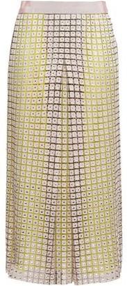 Marco De Vincenzo Embellished Macrame And Tulle Midi Skirt