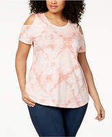 Style&Co. Style & Co Plus Size Cotton Cold-Shoulder Tunic, Created for Macy's