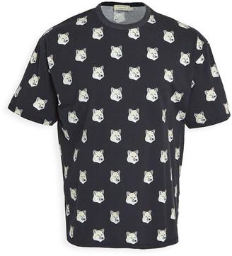 MAISON KITSUNÉ All Over Pastel Fox Head T-Shirt