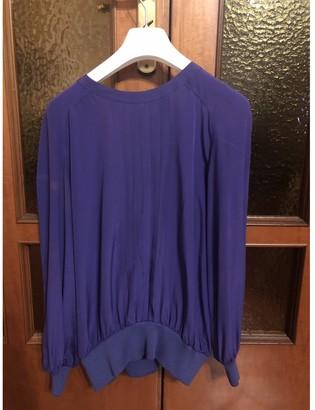 Valentino Purple Silk Top for Women Vintage