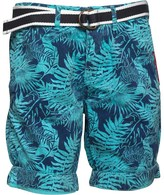 Superdry Mens International Print OD Chino Shorts Neon Blue Woodblock