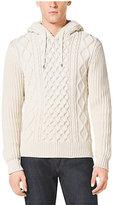 Michael Kors Cable-Knit Cotton-Blend Hoodie