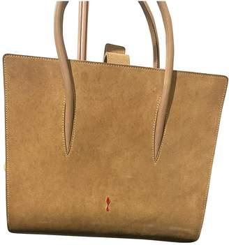 Christian Louboutin Paloma Beige Suede Handbags