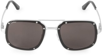 Cartier 58MM Square Titanium Sunglasses