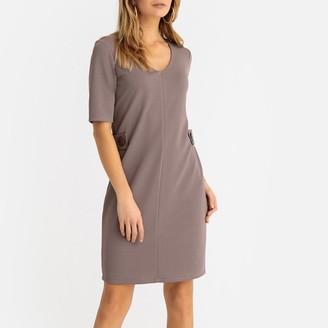 Anne Weyburn Textured Knit Shift Dress