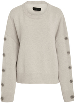 Nili Lotan Martina Buttoned Wool and Cashmere-Blend Sweater