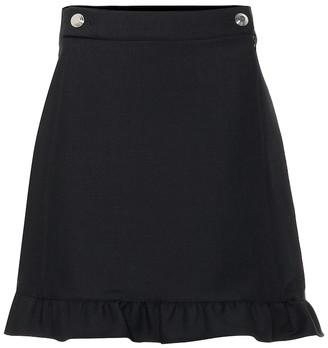 Tory Burch Stretch-wool miniskirt