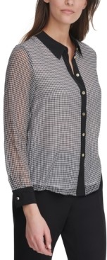 Tommy Hilfiger Gingham Button-Down Blouse