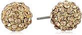 a.v. max Rhinestone Gold Stud Earrings