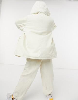 Weekday Byron jacket with detatchable hood in cream